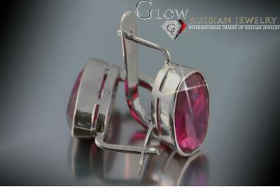 Russian rose gold earrings vens156