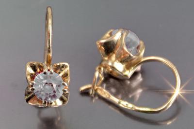Russian rose gold alexandrite earrings veax037
