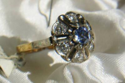 Russian rose & white gold bracelet cb031