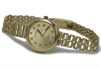 Russian Soviet rose (Italian yellow) 14k gold lady watch lw041