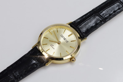 Italian Yellow 14k gold Rolex style Lady watch Geneve lw118