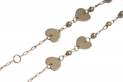 Italian yellow 14k gold lady heart bracelet Celeblity cbc010