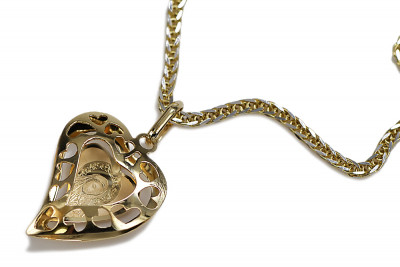 Mother of God 14k gold medallion & Spiga chain 5,6g