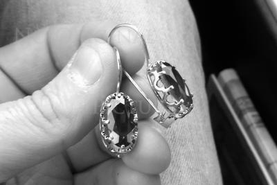 Russian rose gold alexandrite earrings veax079