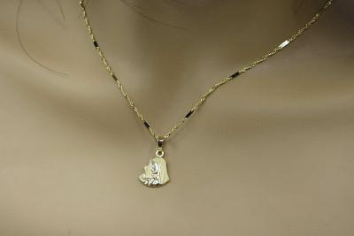 Mother of God medallion & diamond cut chain