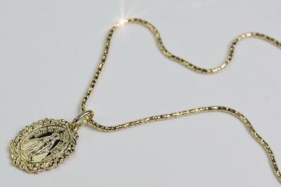 Mother of God medallion & Snake chain