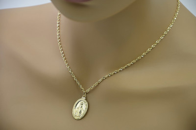 Mother of God medallion & Snake chain